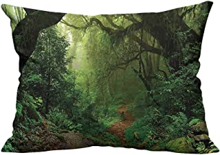 YouXianHome Household Pillowcase in Nepal Touristic Trekking Branch Road Air Outdoors Green Brown Perfect for Travel(Double-Sided Printing) 13.5x19 inch