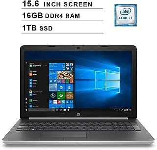 HP 2019 Newest 15.6 Inch HD Laptop (Intel Quad Core i7-8550U up to 4.0 GHz, 16GB RAM, 1TB SSD, Intel HD Graphics 620, WiFi, Bluetooth, DVD, HDMI, Windows 10 Home) (Silver)