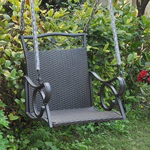 International CaravanInternational Caravan Resin Wicker/Steel Hanging Chair Swing
