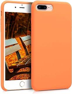 kwmobile Hülle kompatibel mit Apple iPhone 7 Plus / 8 Plus   Handyhülle gummiert   Handy Case in Cosmic Orange