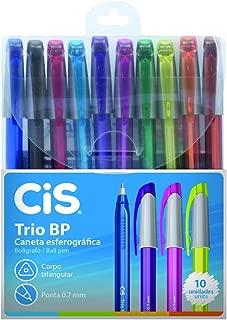 Caneta Esferográfica Trio Bp 10 Cores, CIS