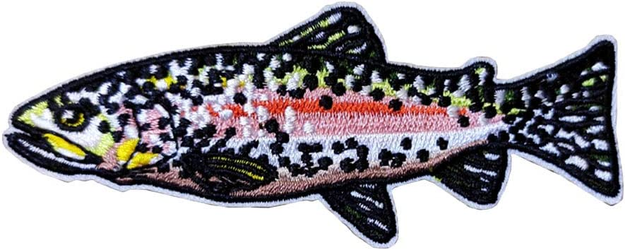 Cute-Patch Rainbow Trout Fish Fishing Quantity limited New York Mall on Iron Badge Embroidered