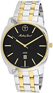 MATTHEY-TISSOT Men's Smart Quartz Stainless Steel Strap, Multicolor, 22 Casual Watch (Model: H6940MBN)