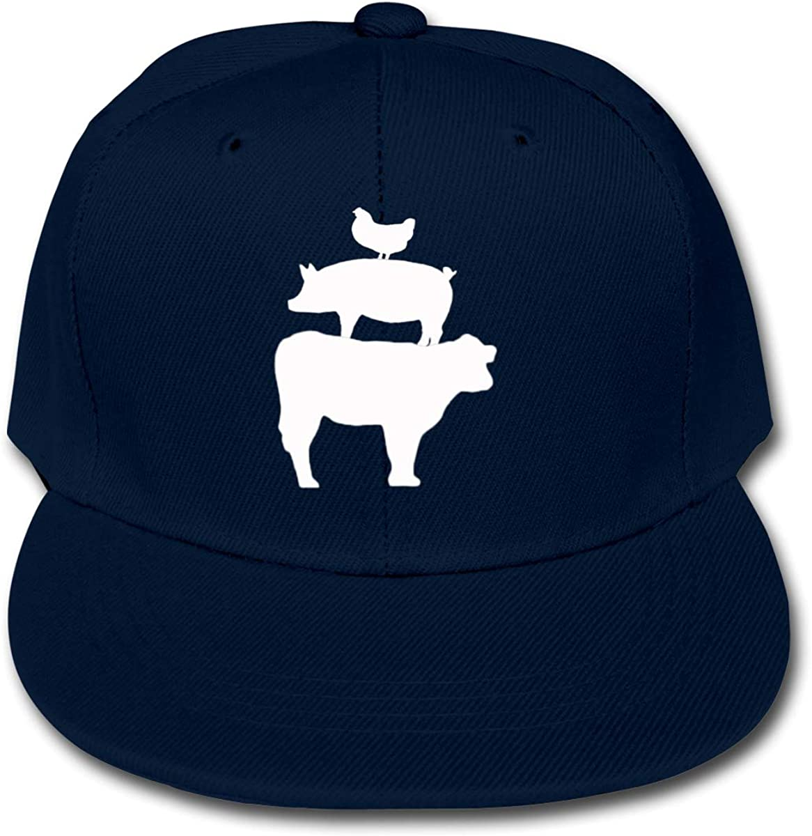 Boys Reservation Girls Animals Don't miss the campaign Stacked Cattle Chicken Pig Baseba Solid Color