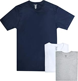 Lucky Brand Men's Crew Neck Cotton Undershirt (3 Pack)