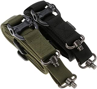 Richwealth 2 Pack MS4 Style Military Tactical Safety Two Points Outdoor Belt Sling Adjustable Strap