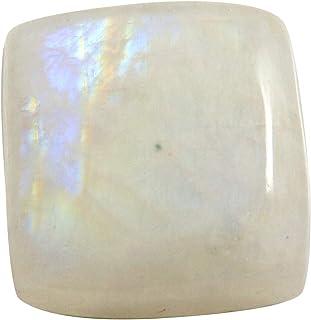 Gems&JewelsHub Piedra lunar arco iris cuadrado cabujón piedra natural suelta 25,4 quilates OG06