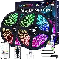Gusodor Led Strip Lights 32.8 Feet Smart Led Lights for Bedroom Color Changing Led Light Strips Music Sync RGB Led Rope...