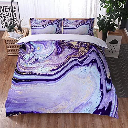 Bedclothes-Blanket Juego de sabanas Infantiles Cama 90,Ropa de Cama Juego de Tres Piezas de Almohadas 3D Impresión Digital de mármol colorido-29_173x218cm