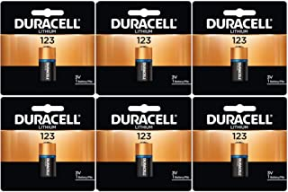 Duracell DL123ABU 3 Volt High Power Ultra Lithium Battery (Value Pack of 6)