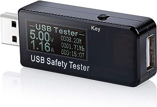 Eversame USB Digital Power Meter Tester Multimeter Current and Voltage Monitor, DC 5.1A 30V Amp Voltage Power Meter, Test ...