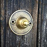 Antikas - timbre de pared de latón patinado - timbre para la puerta entrada herraje timbres