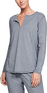 Under Armour, Athlete Recovery - Camiseta de Manga Larga para Mujer, Color Gris Jaspeado (045)/Plateado metálico, Talla XL