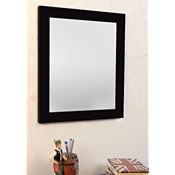 Art Street Black Flat Decorative Wall Mirror/Looking Glass Inner Size 10 x 12 inch, Outer Size 12 x 14 inch