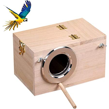 1 pc Bird Breeding Box Wooden Bird Nesting Box Parrots House Bird Incubator