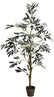 Vickerman Potted Olive Everyday Tree 4' Green
