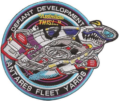 StarTrek Star Trek DS9 Defiant Development Uniform Patch Abzeichen Aufnäher
