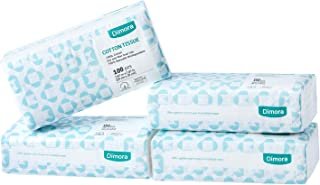 Dimora Soft Dry Wipe, Made of Cotton Only, 400 Count Unscented Cotton Tissues for Sensitive Skin