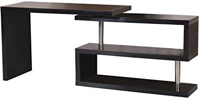 Furniture of America Enitial Lab Olympia Stackable Display Unit Black Set of 2