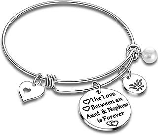 Aunt Bracelet from Niece Nephew Bangle Bracelet Gifts for Auntie Niece Jewelry Aunt Bangle Niece Bracelet