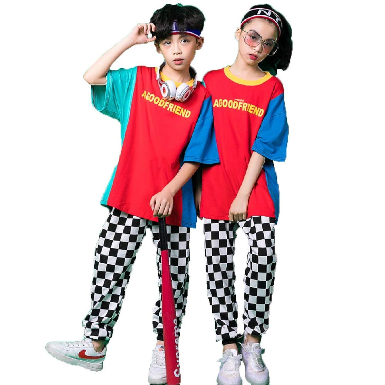 TRVELBETT キッズ ダンス衣装 セットアップ ヒップホップ 男の子 女の子 ダンスウェア パーカー パンツ ストリート カジュアル 競技 練習着 ダンス 衣装 キッズ (パンツのみ, 160cm)