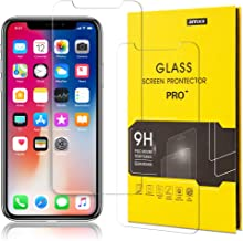 iPhone X Xs Screen Protector,Hd Tempered Glass Film,for Apple Phone 5.8 inch Display,9H Hardness,2 Pack,Clear