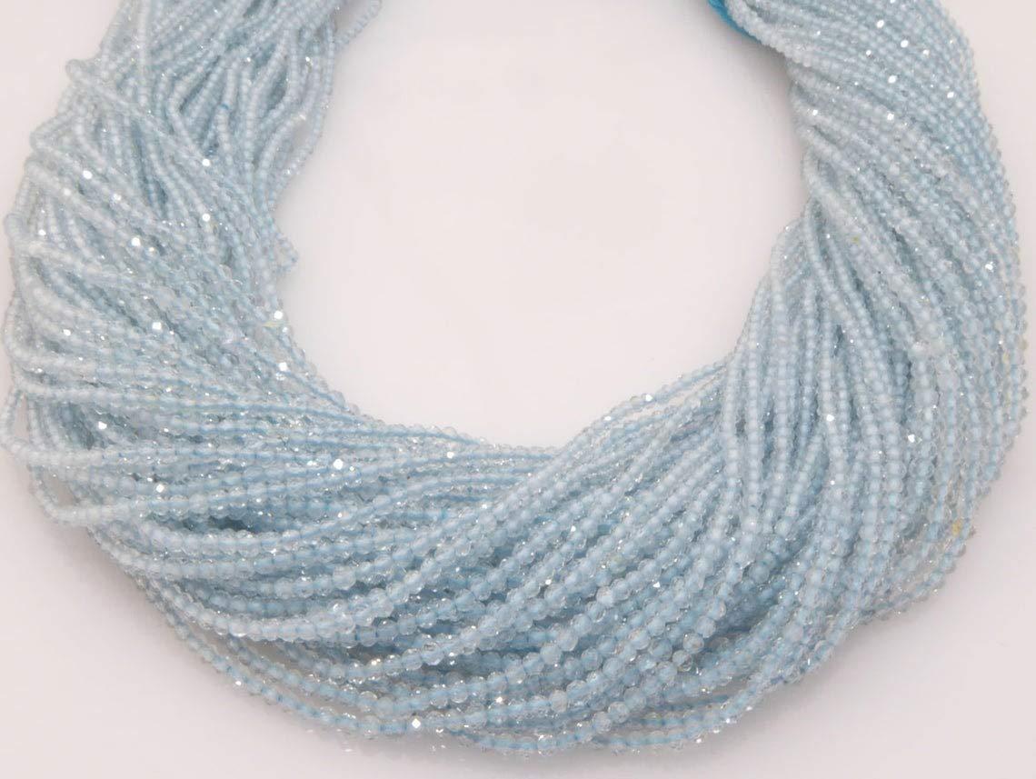 Shree Dedication Narayani Fine Quality Excellence blue Loose topaz Micro Strand Beads