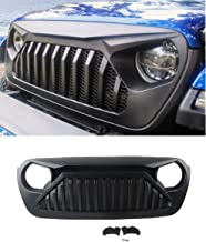 Z8LED Jeep Wrangler JL Gladiator Grill Mesh Grille Replacement 2018 2019 JL and 2020 JT Gladiator Truck (Paintable, Matte Black, ABS)