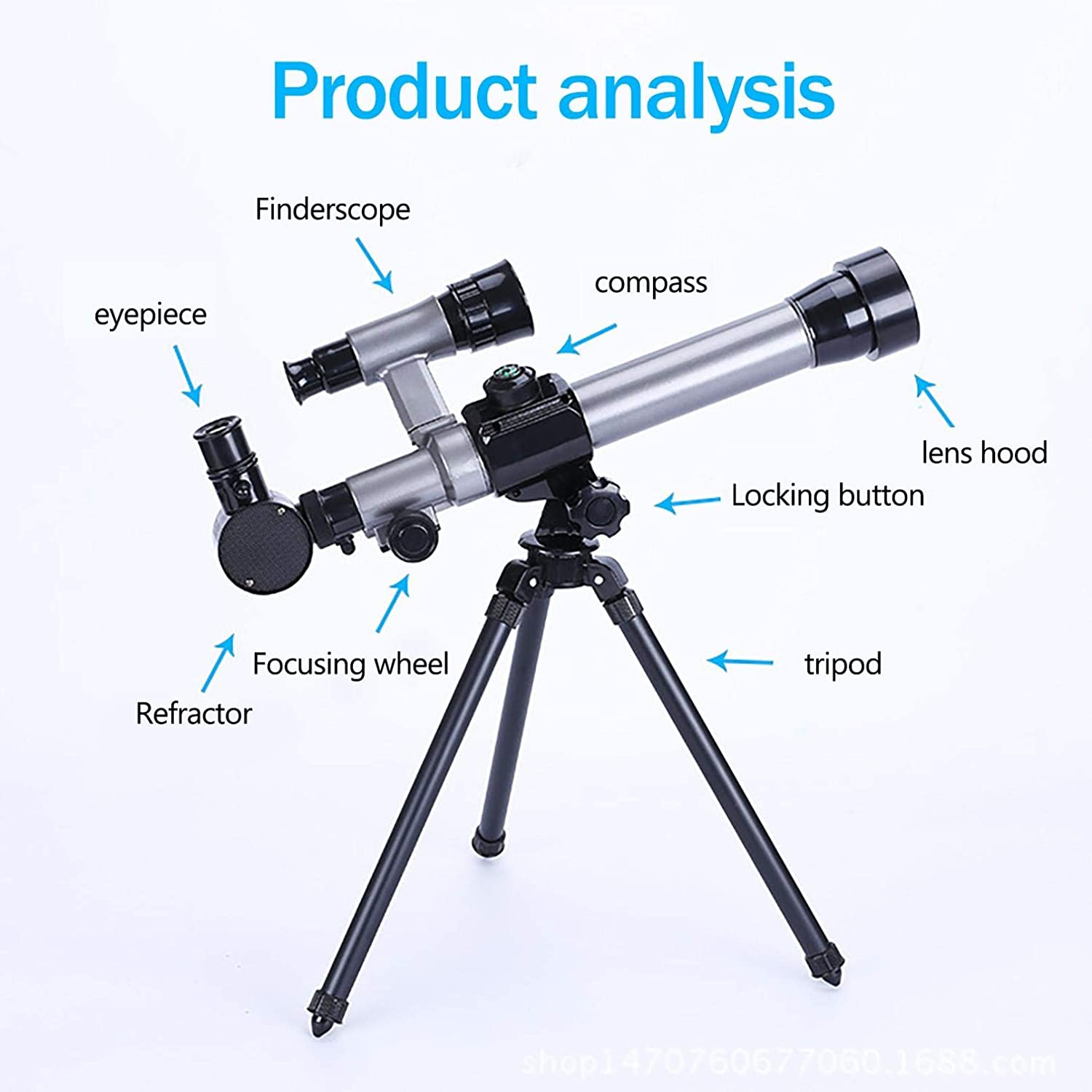Owill Telescopes for Astronomy Beginners Kids B Astronomical Refractor Telescope with 20X//30X//40X Magnification Eyepieces Great Astronomy Gift for Kids to Explore Moon and Planets