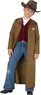 Old West Sheriff Kids Costume, L/12-14, Brown