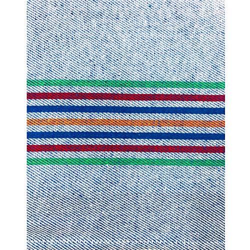 DS HOME 12 Paños de Cocina Sarga, Trapos de Cocina algodón, Toallas de Cocina absorbentes Lavable a Maquina, Juego de 12 paños Suaves y duraderos, 56 x 56 cm Fabricado en España (Azul)