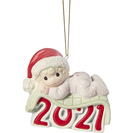 Baby's 1st Christmas Dated Girl Ornament