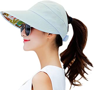 HINDAWI Sun Hats for Women Wide Brim Sun Hat Packable UV Protection Visor Floppy Womens Beach Cap