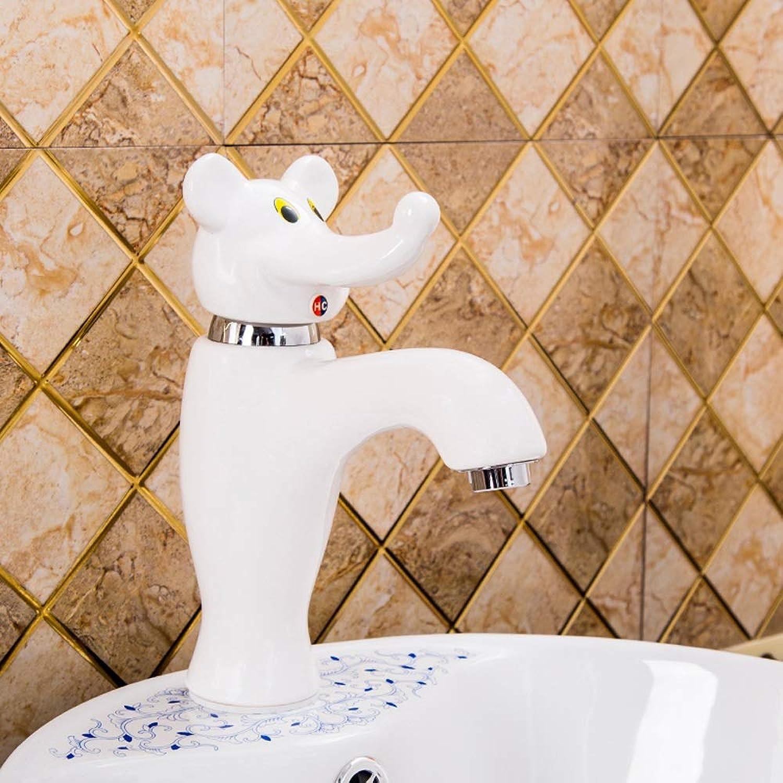 AXWT Cartoon Farbe Kind Wasserhahn Schne Panda Elefant Keramik Armaturen Klte Tierkindergarten Wasserhhne