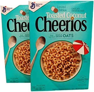 Cheerios Toasted Coconut, Limited Edition, Whole Grain Oats Cereal, 10.8 oz. Box (Pack of 2)