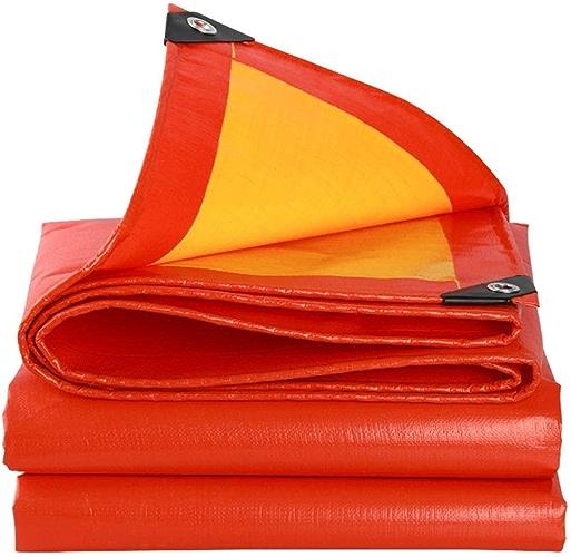 MSF Baches Tente de Couverture de Piscine de Toit de Voiture de Bateau de bache d'ombre de Prougeection Solaire de bache de Camping en Plein air, 210g   m2, épaisseur 0.38mm, Jaune (Taille   3.8x5.8m)