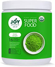 Joy Organic Green Delight Superfood Powder-16 Organic Green superfoods Including Wheat Grass, Spirulina, Matcha Green Tea-Support Immunity, Metabolism, Digestion and Energy-Vegan and Non GMO Formula