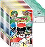 Bendon Power Rangers Grab n Go Play Packs (12 Pack) Party Favors and 12 'Thank You Cards