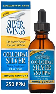 Natural Path Silver Wings Colloidal Silver Mineral 250 PPM, 2oz (CS1A)