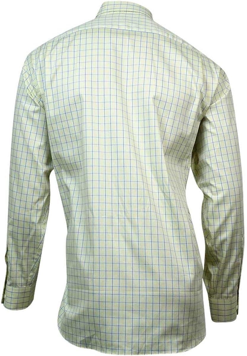 Club Room Men's Long Sleeve Pinpoint Dress Shirt (MaizePlaid, 18/34x35)