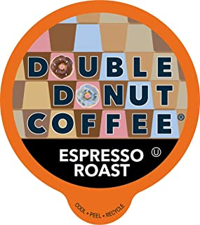 Double Donut Espresso Roast, Fresh Full-Bodied Roast Coffee, Single-Serve Pods for Keurig K Cup Brewer Machines, 80 Capsules per Box