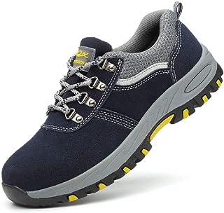 a2af4678 Aizeroth-UK Unisex Hombre Mujer Zapatillas de Seguridad con Punta de Acero Antideslizante  S3 Zapatos