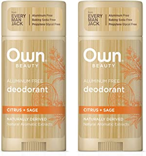 Own Beauty Deodorant Twin Pack (2.7-Ounce Sticks) - Citrus + Sage