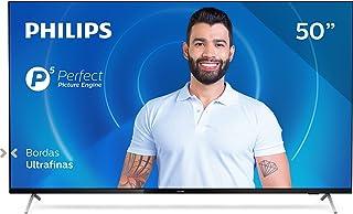 Smart TV Philips 50PUG7625 4K UHD, P5, HDR10+, Dolby Vision, Dolby Atmos, Bluetooth, WiFi, 3 HDMI, 2 USB - Preto Bordas ul...