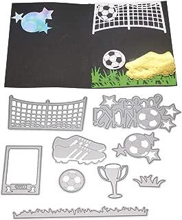 AkoMatial Cutting Dies,Soccer Ball Sneaker Bowl Design Embossing Cutting Dies Tool Stencil Template Mold Card Making Scrapbook Album Paper Card Craft,Metal