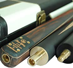 Y&J JY Handmade 57 inch 3/4 Snooker Cue Kit 5-Face Splice 9.5mm Tip Ash Shaft with Leather Case Pool Billiard Cue Stick Sets