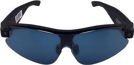 عینک هوشمند Mokioo AI w / Hands-Free Video، Audio، Calls، و Sharing | بلوتوث در زمان واقعی و اتصال Wi-Fi | HD 720P، دوربین 8 مگاپیکسلی | لمس ساده یا کنترل صدا (سیاه)