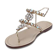 667aa2c59e00b3 Gold rhinestone sandal - Casual Women s Shoes