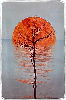 MIFSOIAVV Soft Plush Flannel 3D Illustration Beautiful Landscape During Sunset Super Warm Soft Plush Flannel Gift for Mom 60