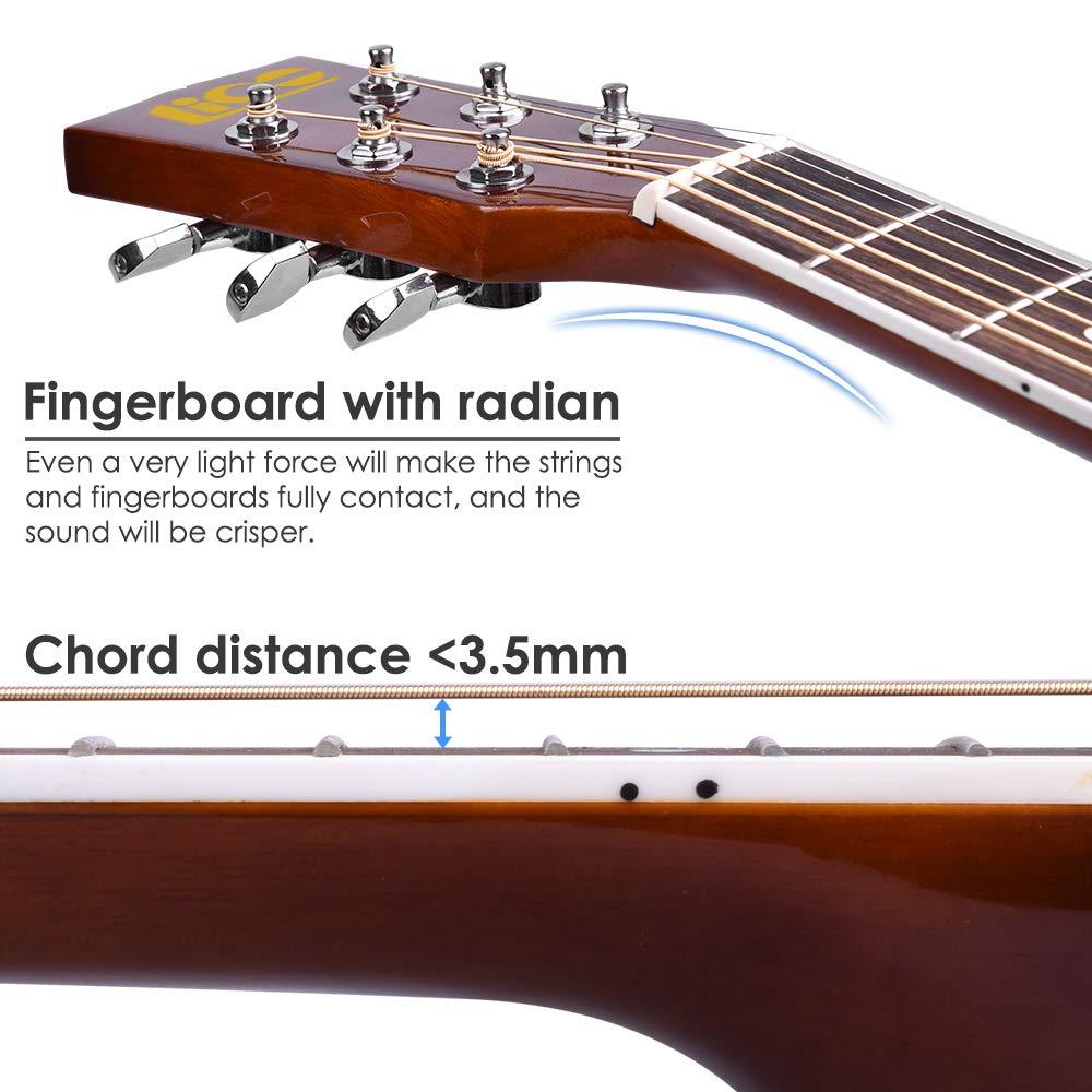 Lico - Guitarra acústica de 41 pulgadas con bolsa para guitarra ...